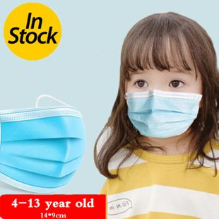 3 layer Disposable Elastic Mouth Soft Breathable Blue Soft Breathable Flu Hygiene Child Kids NHAT203779's discount tags