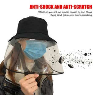 Protective hat anti-fog eye protection isolate virus outdoor dust tide fisherman hat cover face eye protection hood face screen NHAT203837's discount tags