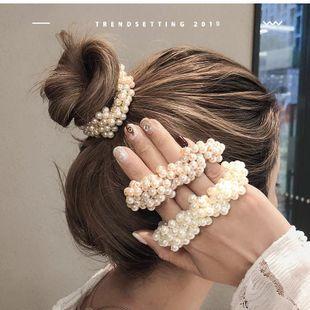 Chica imitación perla simple anillo de pelo coreano dulce fresco barato banda elástica diadema para el cabello NHOF203845's discount tags
