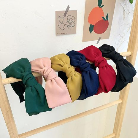 Oversized bow headband female Korean cloth wide-brimmed sweet headband simple cheap headgear NHOF203846's discount tags