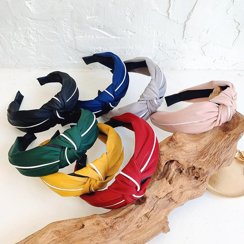 Retro simple solid color cloth wild headband cheap headband NHOF203847