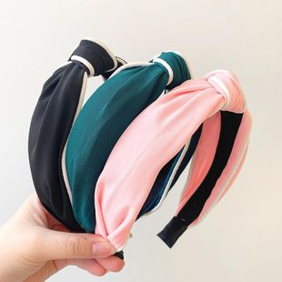 Spring new fashion retro simple knotted cheap hair hoop women NHOF203850's discount tags