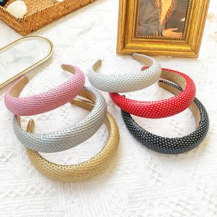Nueva moda salvaje diadema color sólido color brillante tela simple diadema barata NHOF203851's discount tags