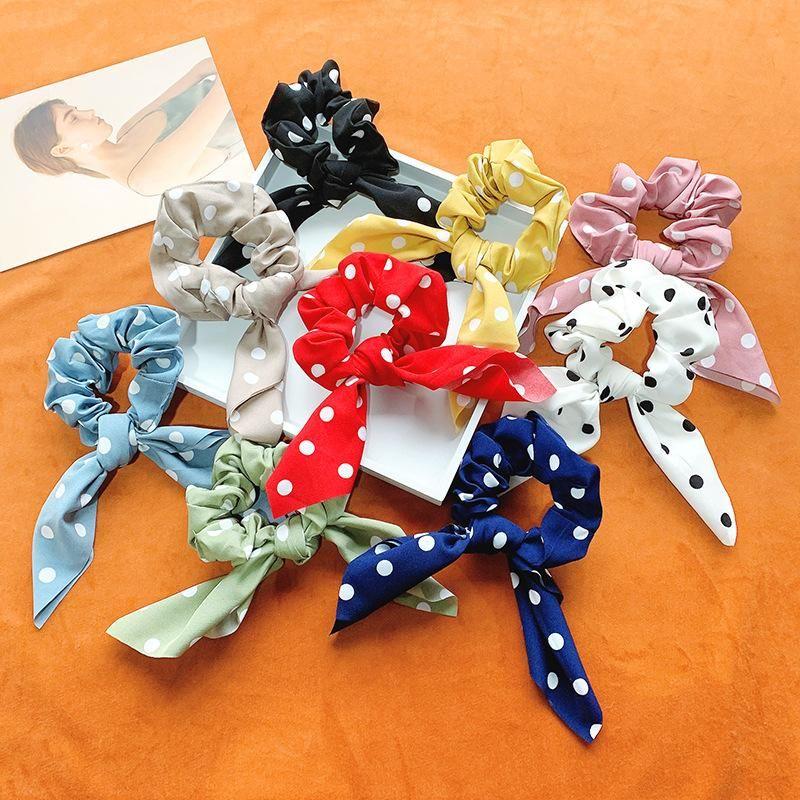 New retro bow hair rope girl cheap hair ring wholesale NHOF203855