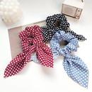 Korean cloth big bow hair ring wild chiffon cheap hair rope wholesale NHOF203856