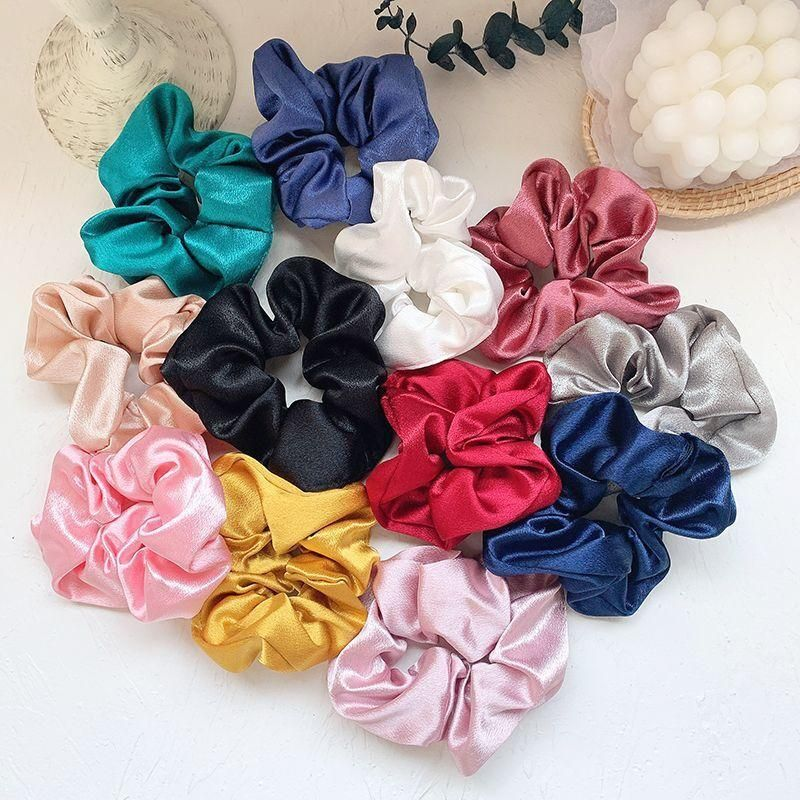 Satin hair ring Korean new fashion sweet cheap hair rope wholesale NHOF203857