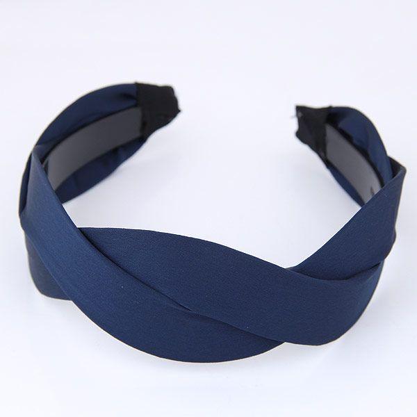 Korean fashion weaving cross simple wave headband headband NHSC203459