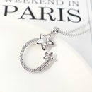 New Fashion Simple Diamond Star Necklace Wholesale NHSE203866