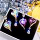 Yi wu jewelry925 silver needle Korean fashion sweet OL simple gem peach heart asymmetric earrings wholesale NHSC205748