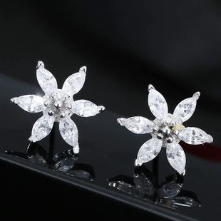 Korean Fashion Sweet OL Bright Petal Earrings Wholesale NHSC204345's discount tags