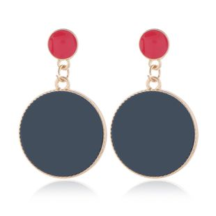 Fashion Metal Contrast Round Exaggerated Earrings Wholesale NHSC204344's discount tags