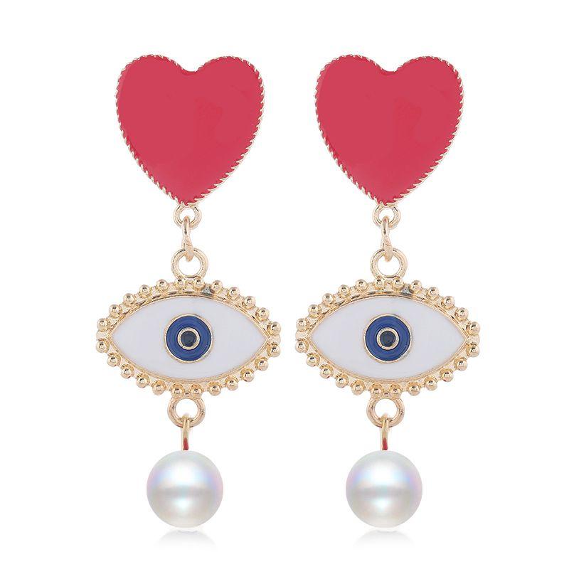 Yi wu jewelry new fashion metal wild devil's eye earrings wholesale NHSC205752