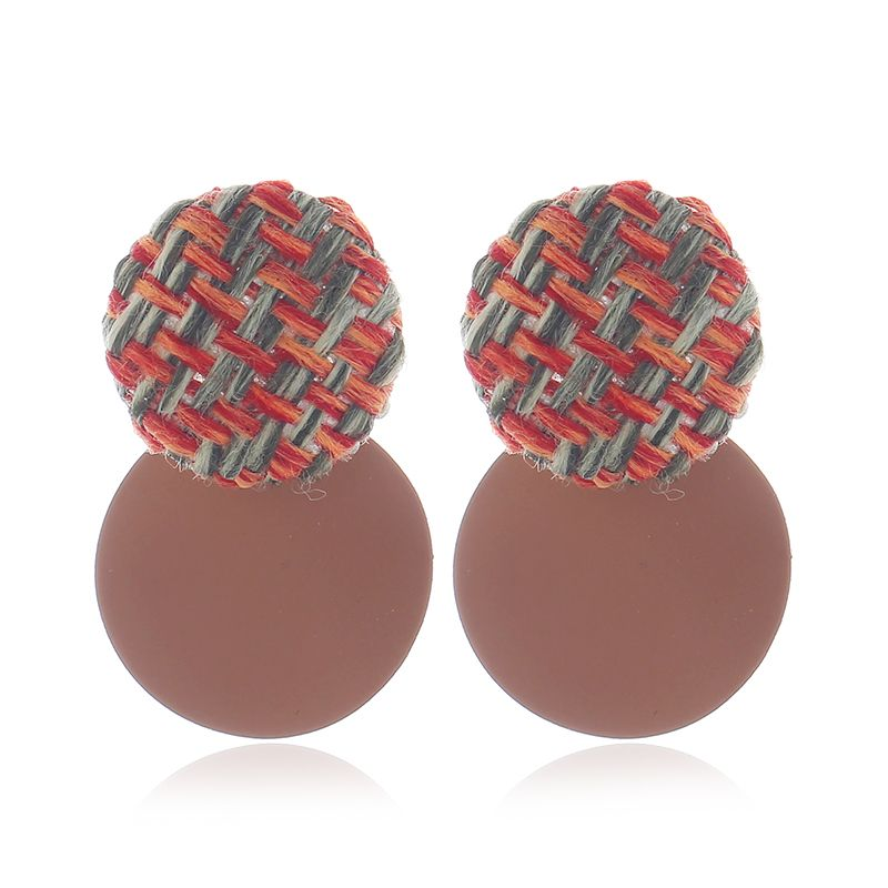 Yi wu jewelry new fashion simple wild disc earrings wholesale NHSC205753
