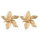 Fashion Metal Simple Maple Leaf Stud Earrings NHSC199667