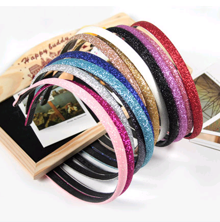 Korean Fashion Hot Sale Shiny Frosted Beads Candy Color Hair Accessories Headband Headband NHSC199661's discount tags