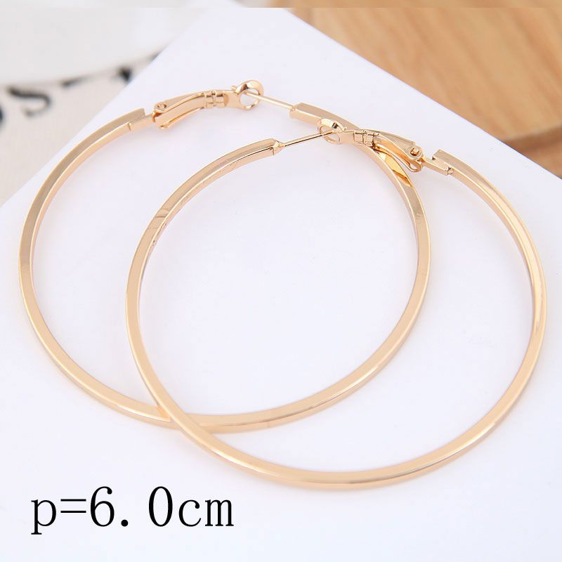 60mm boutique Korean fashion metal simple and smooth personality earrings earrings NHSC199649