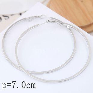70mm Boutique Coreana Moda Metal Simple Brillo Stud Pendientes NHSC199648's discount tags