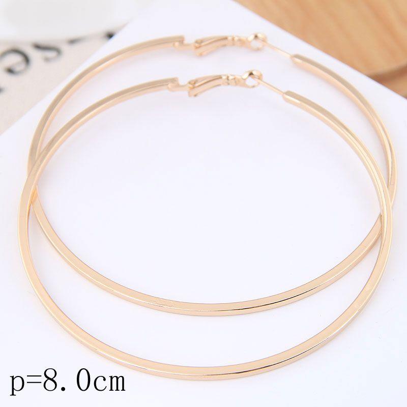 Fashion metal simple glossy hoop earrings wholesale NHSC199647