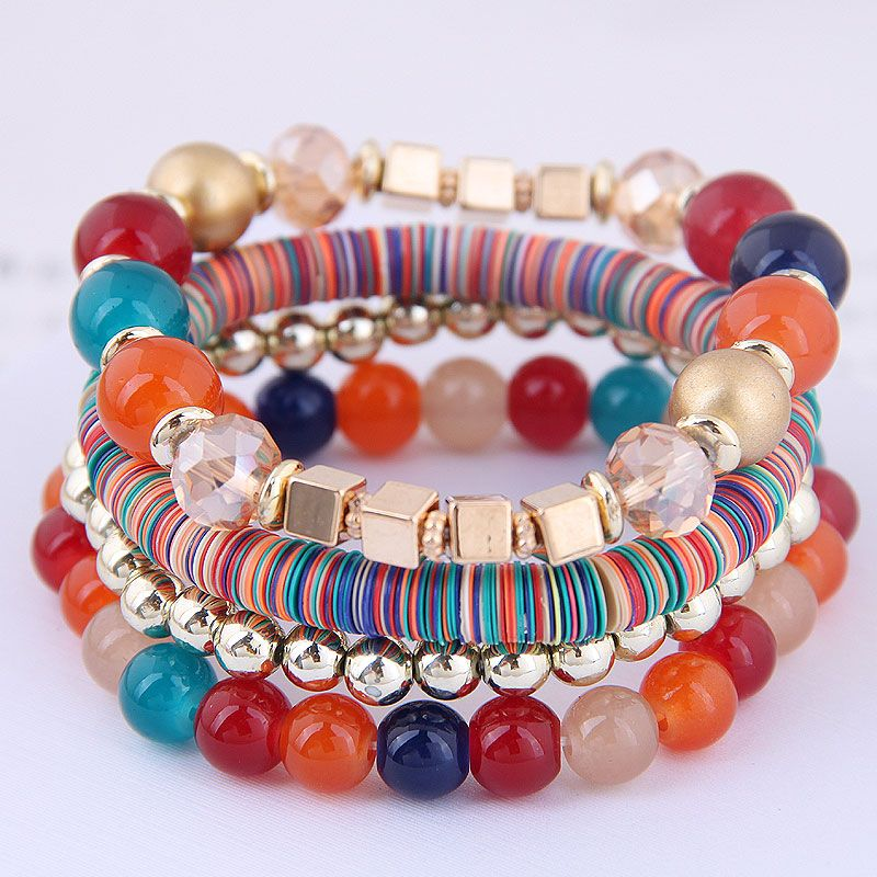 Fashion Bohemian Mashup Multi-Accessory Multilayer Bracelet NHSC199643