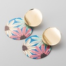Fashion earrings colorful earrings exaggerated earrings wild frosted round girl heart earrings NHLN199329