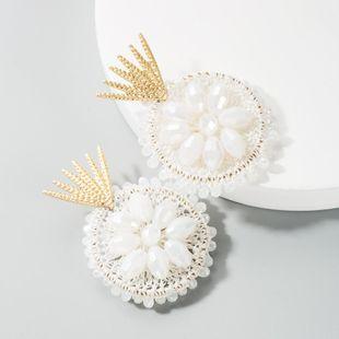 Nihaojewelry Pop estilo popular tejido a mano pendientes de mujer boho pendientes largos huecos al por mayor de moda NHLN199335's discount tags