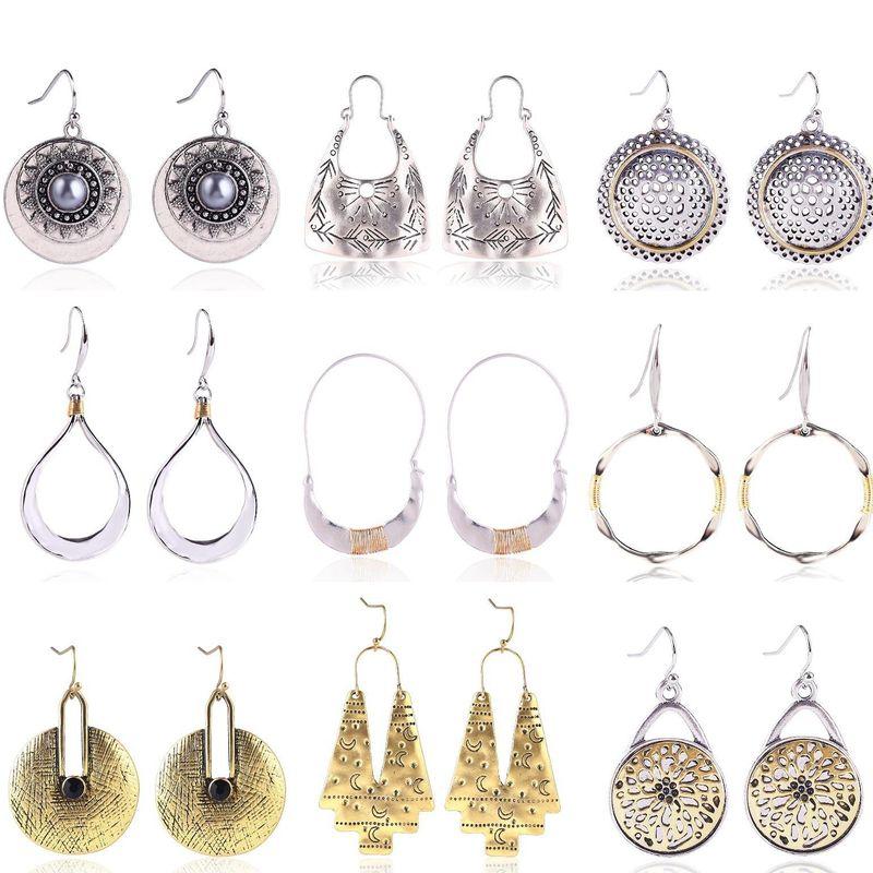 Nihaojewelry Creative Geometric Fashion Exaggerated Earrings Wholesale NHJJ199341
