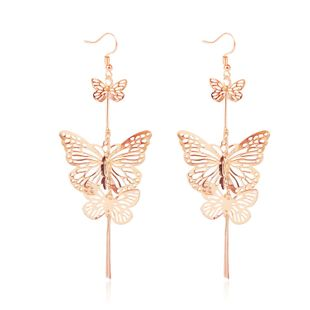 Pendientes de oro de mariposa hueca coreana simple Nihaojewelry NHJJ199342's discount tags