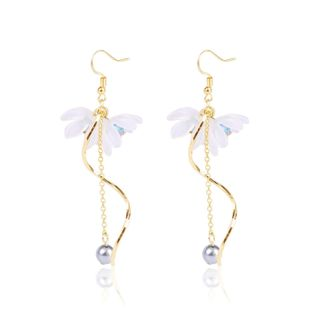 Nihaojewelry simple lily flower fringed explosion female earrings wholesale NHJJ199343's discount tags