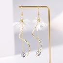 Nihaojewelry simple lily flower fringed explosion female earrings wholesale NHJJ199343