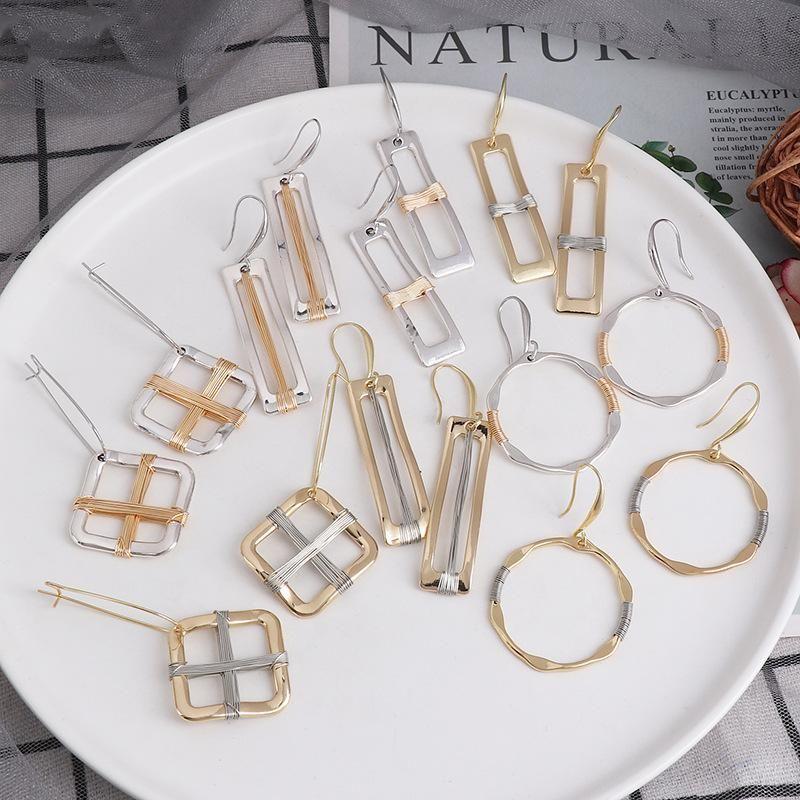 Retro earrings, earrings, female temperament, simple geometric design NHJJ199345