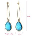 New simple long earrings crystal earrings colored water drop crystal earrings NHJJ199348