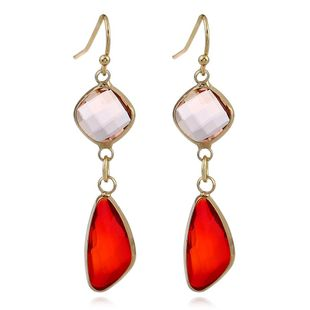 Nihaojewelry New simple long earrings crystal earrings colored water drop crystal earrings NHJJ199349's discount tags