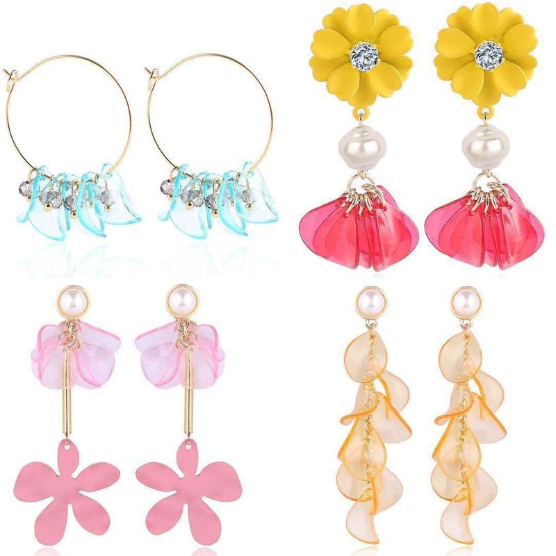 Fashion earrings new earrings temperament petal flower fringed earrings NHJJ199350