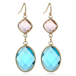 Fashion earrings simple long earrings crystal earrings colored water drop crystal earrings NHJJ199351's discount tags