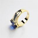 Nihaojewelry New Jewelry Retro Fashion Business Twotone Mens Ring Wholesale NHJJ199357