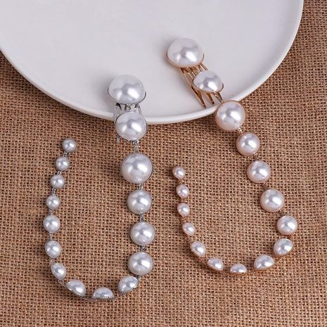 Fashion New Pearl Hair Clip Beaded Long Fringe Hair Bun NHJJ199358's discount tags