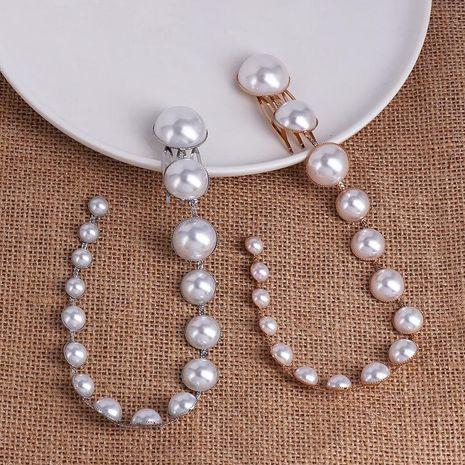 Fashion New Pearl Hair Clip Beaded Long Fringe Hair Bun NHJJ199358's discount tags