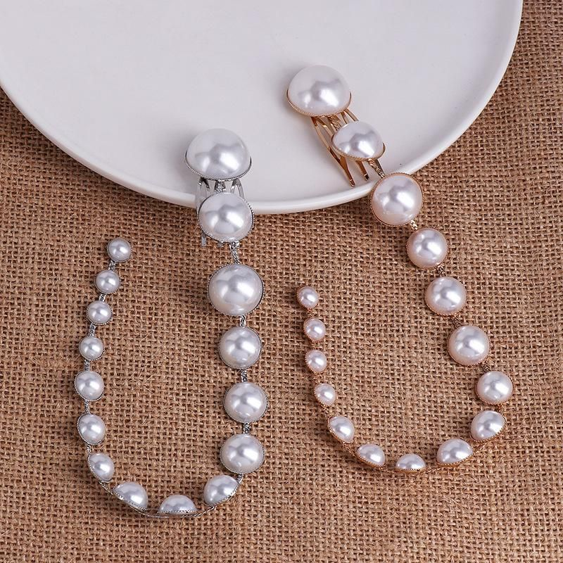 Fashion New Pearl Hair Clip Beaded Long Fringe Hair Bun NHJJ199358
