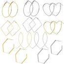 Explosion style simple wild large ring ear ring circle polygon geometric retro earrings female NHJJ199359