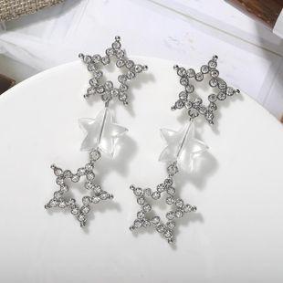 Nihaojewelry Fashion Long Diamond Pendant Silver Pin Earrings Pendientes finos NHJQ199370's discount tags