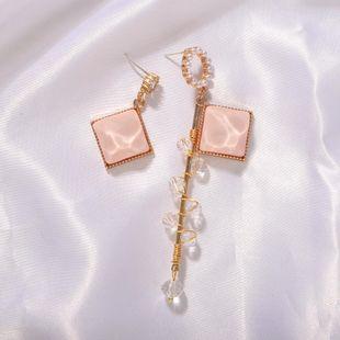 Pendientes de diamantes con cuentas hechos a mano asimétricos de moda Joyas de perlas de imitación cuadradas NHJQ199375's discount tags