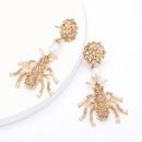Pendientes de moda pendientes de insecto de diamantes y perlas pendientes de mujer al por mayor NHJE199389