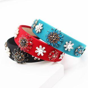 Moda diamante estilo gema palacio estilo geométrico aro de pelo simple magnífico accesorios para el cabello de baile NHWJ199395's discount tags