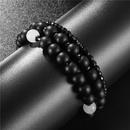 Fashion jewelry retro wild natural energy stone bracelet white jade diamond ball threepiece bracelet bracelet set NHZU199408