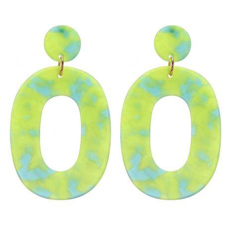 Nihao bijoux mode simple vert acrylique boucles d'oreilles creuses femmes NHZU199415's discount tags