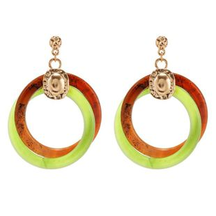 Retro new acrylic acetate geometric winding hollow circle earrings for women NHZU199417's discount tags
