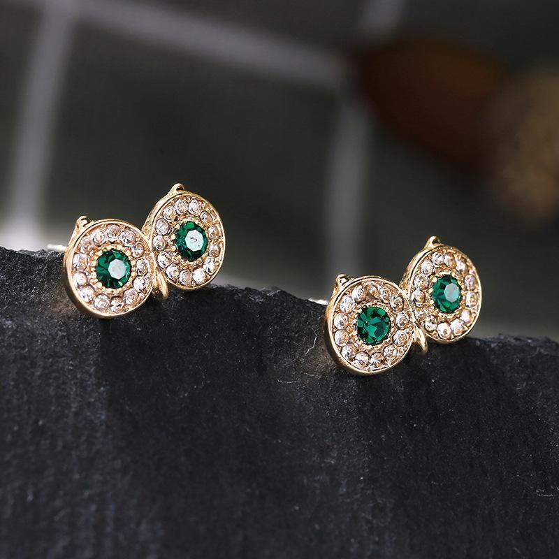 Nihaojewelry New Fashion Owl Temperament Frosty Wind Stud Earrings Wholesale NHQD199439
