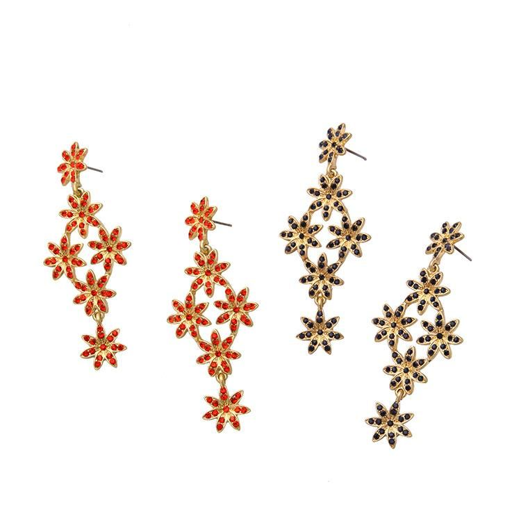 Fashion Long Flower Luxury Pendant Women's Ear Studs Wholesale NHQD199445