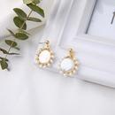 Korea 925 Sterling Silver Earrings Geometric Niche Earrings Fashion Shell Pearl Earrings NHQD199446