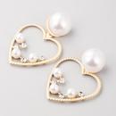 Fashion earrings fashion wild heartshaped alloy earrings female gold earrings NHLN199450